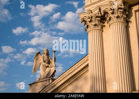 Chiesa di San Rocco all'Augusteo or Church of Saint Rocco on the banks of the River Tiber in Rome, Italy - Stock Photo