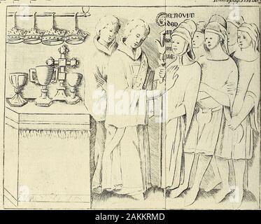 Memorie storiche di Monza e sua corte . V:^LTJ55imi:òar.5;^Liae[:5€(òr5:6M.^(m6rra:;:s-^Q^^^^ T7r^ìJpa^.l73Tatjf:X-. Gap Muratori (40) hanno pubblicata una per-gamena deti Archivio de Monaci di S. Am-brogio , dalla quale risulta che la qui de-scritta e adoperata Corona , detta ivi Co-ronarli Ferream Lauream, fu depositatain custodia, per ordine del Re de Roma-ni, da due suoi Messi il giorno 19. diAprile dello stesso anno 1311. pressoAstolfo da Lampugnano Abbate di quelMonastero, presente Maestro Landi deSenni Orefice del suddetto Re, e fab-bricatore di quella Corona : Prcesente Ma-gìstro Landò - Stock Photo