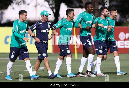 SÃO PAULO, SP - 09.01.2020: TREINO DO PALMEIRAS - The SE Palmeiras players during training at the Football Academy. (Photo: Cesar Greco/Fotoarena) - Stock Photo