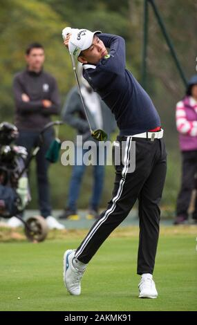 FANLING,HONG KONG SAR,CHINA: JANUARY 9th 2020. Hong Kong Open Golf Round 2. Phachara Khongwatmai of Thailand has an early tee off in the 2nd shotgun round.Alamy Live news/Jayne Russell - Stock Photo