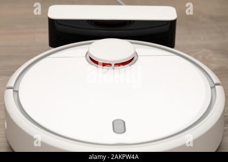 Picture of an automatic intelligent robotic hoover
