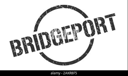 Bridgeport stamp. Bridgeport grunge round isolated sign - Stock Photo