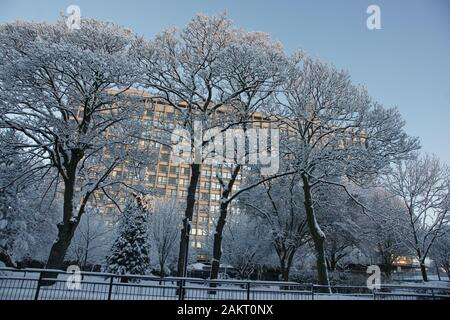 snow, Kingston upon Hull - Stock Photo