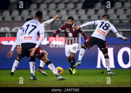 Turin, Italy - 09 January, 2020: Tomas Rincon of Torino FC in action during the Coppa Italia football match between Torino FC and Genoa CFC. Credit: Nicolò Campo/Alamy Live News - Stock Photo