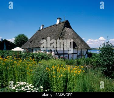 Sieseby, typical  house, Schlei, Balic Sea Coast, Schleswig-Holstein, Germany - Stock Photo
