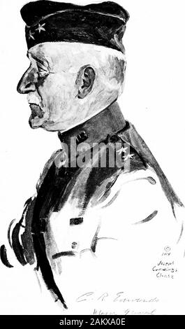 Soldiers all; portraits and sketches of the men of the AEF. . [337]. © _ /iW* Chait •/?-?- / MAJOR GENERAL HARRY C. HALE Arrived in France, September 3, 1918.Commanded 26th Division, November 16, 1918. Born: Illinois, July 10, 1861. Stock Photo
