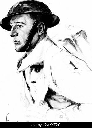 Soldiers all; portraits and sketches of the men of the AEF. . JUVfuxn. Stock Photo