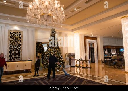 LAS VEGAS, USA - NOVEMBER 26: International Trump Tower hotel in Las Vegas on November 26, 2019 in Las Vegas, USA. - Stock Photo