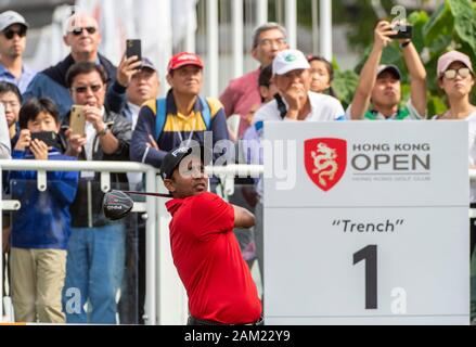 Hong Kong. 11th Jan, 2020. Hong Kong Open Golf Round 3. S.S.P Chawrasia of India on day 3 of the tournament. Teeing off on the first.Alamy Live news/Jayne Russell - Stock Photo
