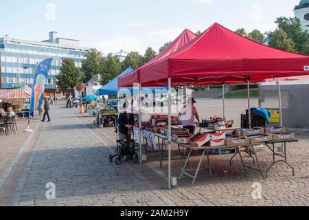 Hämeenlinna Market Square in Summer - Stock Photo