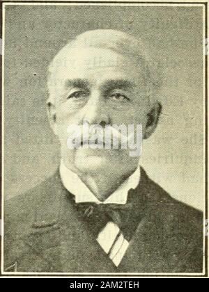The Fulham genealogy; with index of names and blanks for records . 1895. He commanded the army during the war with Spain in 1898; and attained the rank of Lieutenant General Commanding the United States Army, June 6, 1900. He represented the army at the seat of the late Turko-Grecian War, and at the Diamond Jubilee of Queen Victoria in 1897. He is author of Personal Recollections; or From New England to the Golden Gate, 1896; Observations Abroad or Report of Maj. Gen. Nelson A. Miles, Commanding U. S. Army, of his Tour of Observation in Europe, 1899; and of many Magazine Articles and Military - Stock Photo