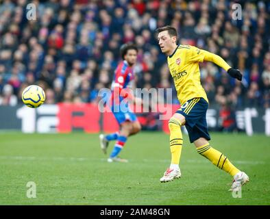 London, UK. 11th Jan, 2020. LONDON, ENGLAND - JANUARY 11: Mesui Ozil of Arsenal during English Premier League match between Crystal Palace and Arsenal on January 11 2020 at Selhurst Park Stadium, London, England. Credit: Action Foto Sport/Alamy Live News - Stock Photo