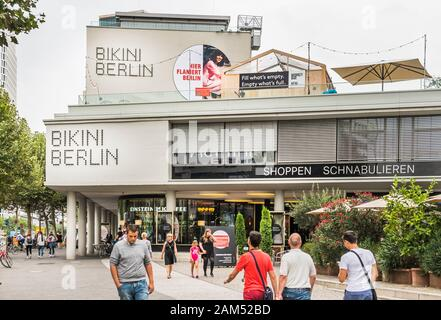 street scene  in front of bikini berlin, shopping center - Stock Photo