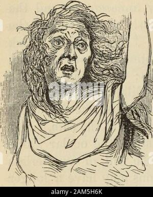 New Physiognomy : or signs of character, as manifested through temperament and external forms, and especially in the 'the human face divine.' . =? Fig. 434, which represents a woman who became insane on account ofthe unfaithfulness of her lover, who deserted her, shows the lively, bril-liant eyes mentioned by Dr. Laurent. She still loves ; and in her mentalaberration adorns her disheveled hair with flowers, and with parted lips and hungry devouring glances awaits the coming of her hearts idol, whomshe never ceases to expect. What a blessing to her it would be couldshe be weaned from the faithl - Stock Photo