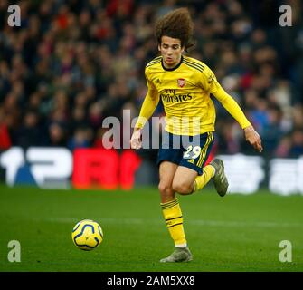 London, UK. 11th Jan 2020. Matteo Guendouzi of Arsenal during English Premier League match between Crystal Palace and Arsenal on January 11 2020 at Selhurst Park Stadium, London, England. (Photo by AFS/Espa-Images) Credit: Cal Sport Media/Alamy Live News - Stock Photo