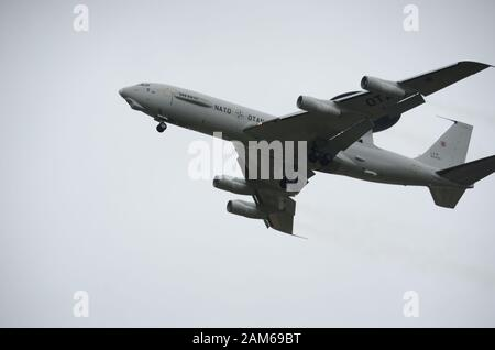 The Boeing E-3 Sentry,  AWACS, Military airborne early warning and control aircraft - Stock Photo