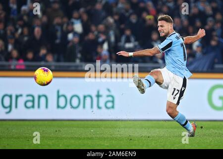 Rome, Italy. 11th Jan 2020. Ciro Immobile of Lazio in action during the Italian championship Serie A football match between SS Lazio and SSC Napoli on January 11, 2020 at Stadio Olimpico in Rome, Italy - Photo Federico Proietti/ESPA-Imaes Credit: Cal Sport Media/Alamy Live News - Stock Photo