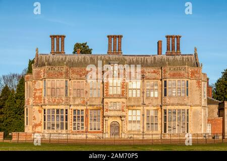 The south front of Felbrigg Hall in Norfolk.  PHOTOGRAPHED FROM PUBLIC FOOTPATH. - Stock Photo