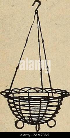Dreer's wholesale price list : flower seeds for florists plants for florists bulbs for florists vegetable seeds fertilizers, fungicides, insecticides, implements, etc . wirehanging basket - Stock Photo