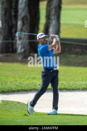 Fanling, Hong Kong, China. 12th Jan 2020.Hong Kong Open Golf Final Round. Wade Ormsby of Australia leads the field. On the 6th fairway. Credit: HKPhotoNews/Alamy Live News - Stock Photo