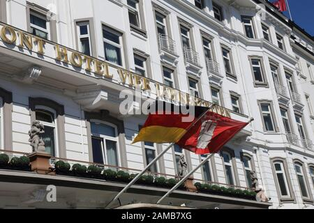 Hamburg Hotel Vier Jahreszeiten - Stock Photo