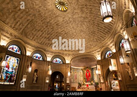 Basilica of Saint Lawrence in downtown Asheville NC - Stock Photo