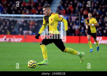 Bournemouth, UK. 12th Jan, 2020. Gerard Deulofeu of Watford in action. Premier League match, AFC Bournemouth v Watford at the Vitality Stadium in Bournemouth, Dorset on Sunday 12th January 2020. this image may only be used for Editorial purposes. Editorial use only, license required for commercial use. No use in betting, games or a single club/league/player publications. pic by Steffan Bowen/ Credit: Andrew Orchard sports photography/Alamy Live News