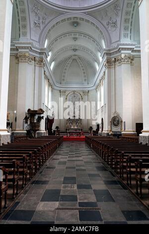 St. Peter, Paul und Quirinius Kathedrale,  Malmedy, Provinz Lüttich, Belgien - Stock Photo