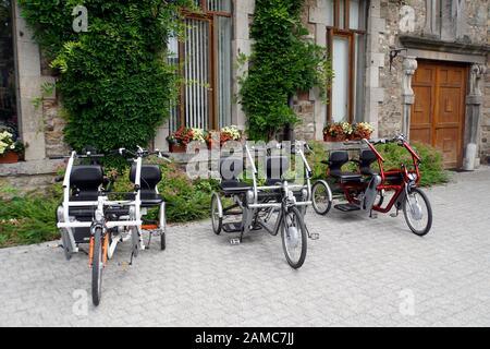 E-Trike für zwei Personen, Malmedy,Provinz Lüttich, Belgien - Stock Photo