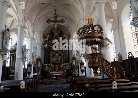 St. Nikolaus Kirche Eupen, Provinz Lüttich, Belgien - Stock Photo