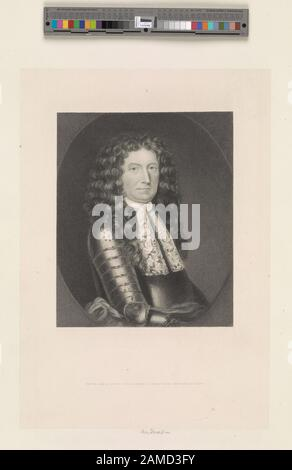 Sir Edmund Andros  Printmakers include Henry Bryan Hall, Jacobus Houbraken, James McArdell, Thomas Phillibrowne & William Wellstood. Title from Calendar of the Emmet Collection. EM1714; Sir Edmund Andros. - Stock Photo
