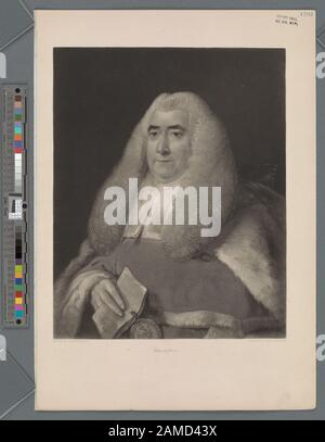 Sir William Blackstone  'Printmakers include Henry Bryan Hall, Jacobus Houbraken, James McArdell, Thomas Phillibrowne & William Wellstood. Title from Calendar of the Emmet Collection. EM1702; Sir William Blackstone. - Stock Photo