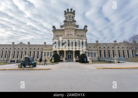 Anamosa State Penitentiary in Anamosa, Iowa, USA - Stock Photo