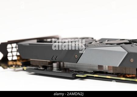 New graphic video card for cryptocurrency mining - Stock Photo