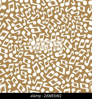 Musical seamless pattern with music notes. Abstract repeating background. Vector illustration. Wallpaper. - Stock Photo