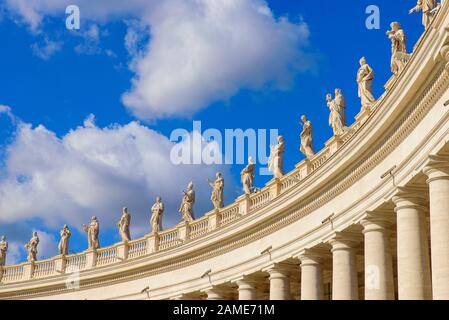 Colonnades at St. Peter's Square in Vatican City