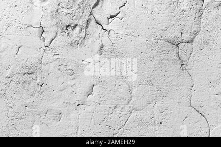 concrete wall cracked grunge texture or background - Stock Photo