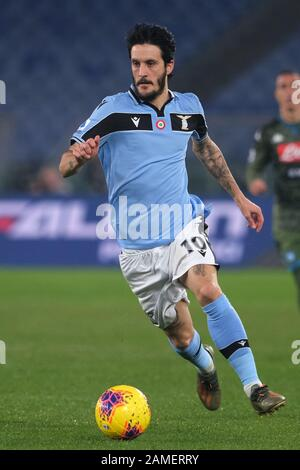 ROMA,ITALY JANUARY 11 2019 Luis Alberto of Lazio  action during the match Serie A TIM between SS Lazio Vs SSC Napoli at Stadio Olimpico in Rome on January 11 2019 (Photo by Marco Iorio) - Stock Photo