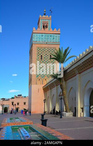Marrakesh, Morocco - November 22nd 2014: Mosque de la Kasbah aka El-Mansour mosque - Stock Photo