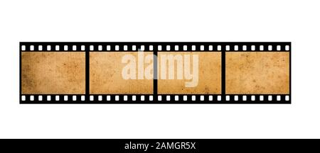 Old  35mm filmstrip isolated on white background - Stock Photo