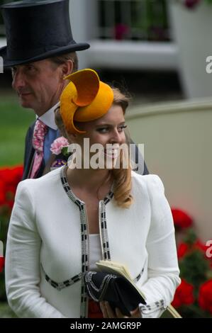 Royal Ascot, Ascot Races, Berkshire, UK. 19th June, 2014. Princess Beatrice in the Parade Ring at Ascot Races on Ladies Day. Credit: Maureen McLean/Alamy - Stock Photo