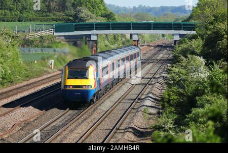 Class 43 HST High Speed Train in Leicestershire, England, UK. - Stock Photo