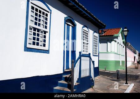 Casaril, Street Direita, Pirinópolis, Goiás, Brazil - Stock Photo