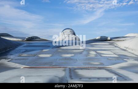 Detail of a Grumman F-14 Tomcat fighter plane - Stock Photo