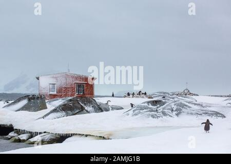 Peterman Island, Antarctic Peninsula, Antarctica - Stock Photo