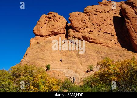 One of the favored climbing sandstone mountains in the Garden of the Gods.