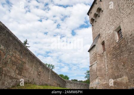 Burg Tittmoning - walls with window [automated translation] - Stock Photo