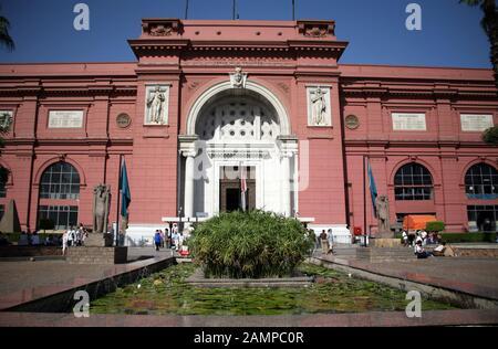 The Egyptian Museum Cairo Egypt - Stock Photo