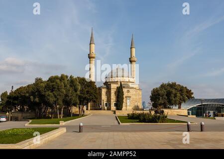 Baku, Azerbaijan - November 13, 2019: The Mosque of the Martyrs or Turkish Mosque is a mosque in Baku. - Stock Photo