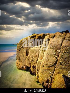 IE - CONNEMARA:  Atlantic coast on Omey Island - Stock Photo
